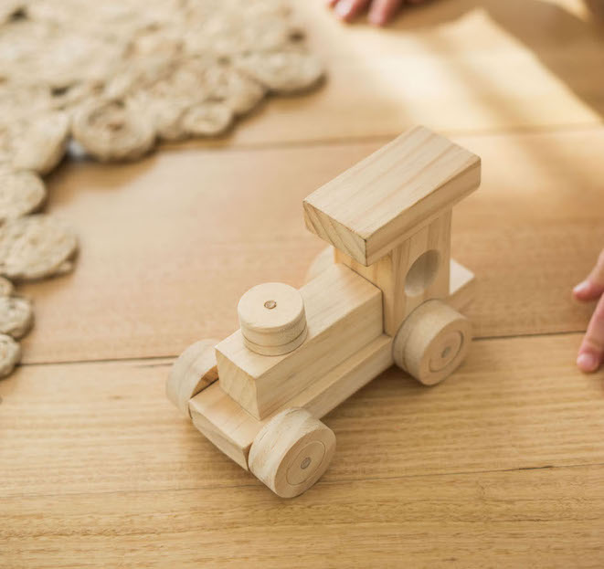 clean wooden toys