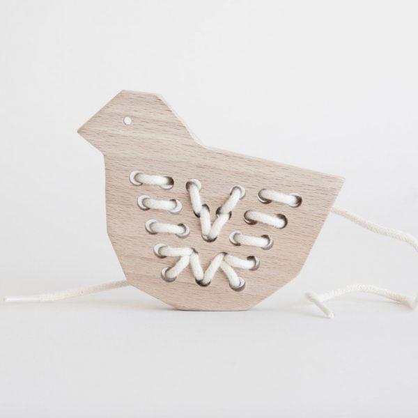 Wooden Lacing Duck