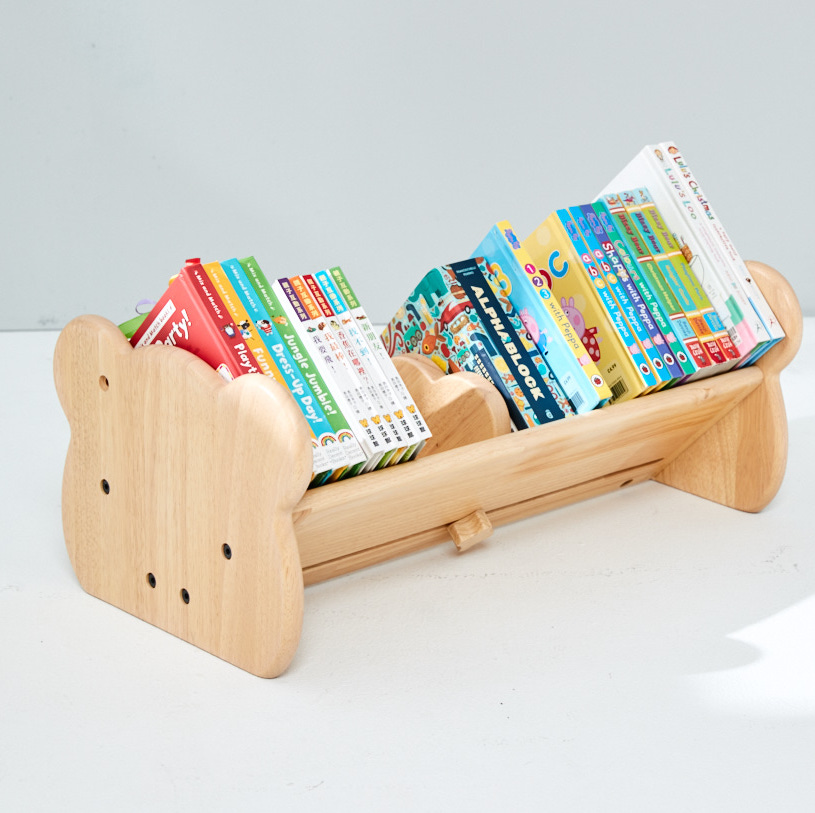 Wooden Children's Book Shelf and Paper Roll holder