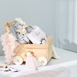 Bunny Tickles Toy Box with Wheels