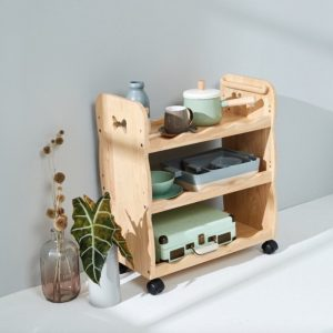 Wooden Trolley on Wheels