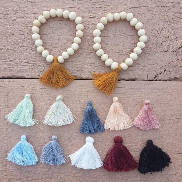 Happy Days Wooden Bead Bracelets