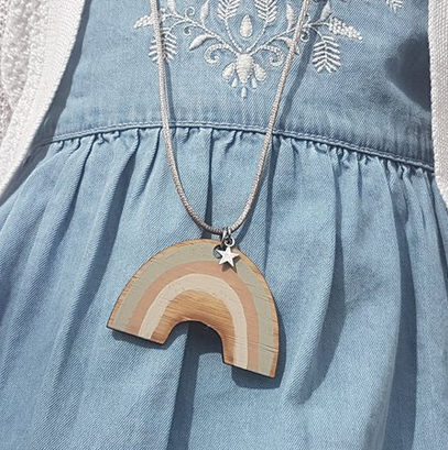 Over the Rainbow Bamboo Necklace