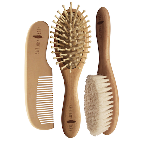 Shellamy Baby Hairbrush and Comb Set
