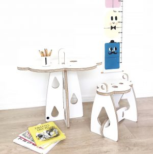 Kloud Table and Stool
