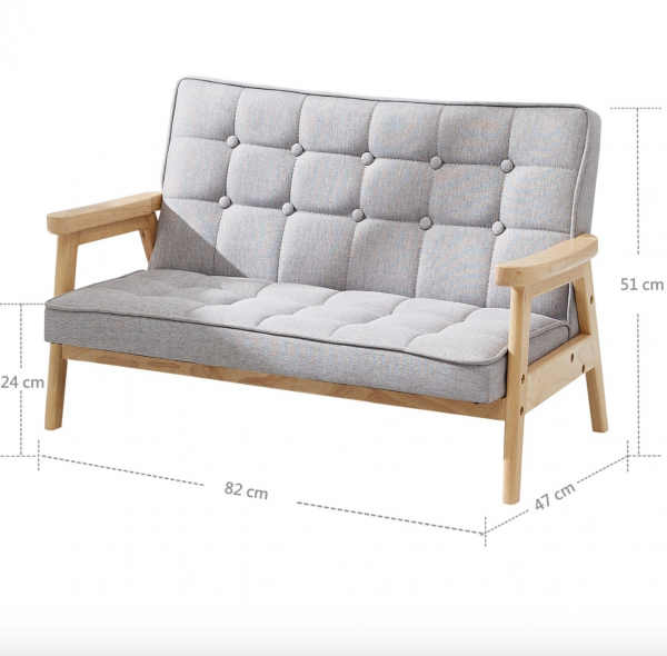 Child's Double Arm Chair with measurements
