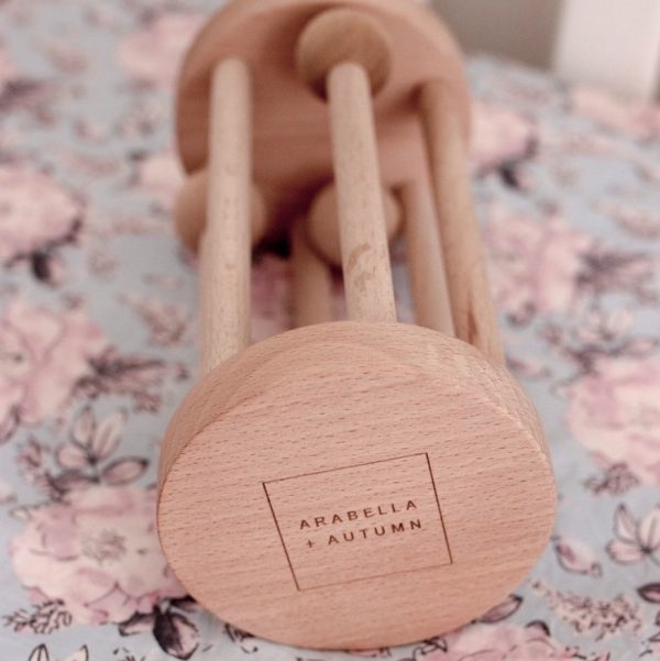 Rolling Wooden Rattle