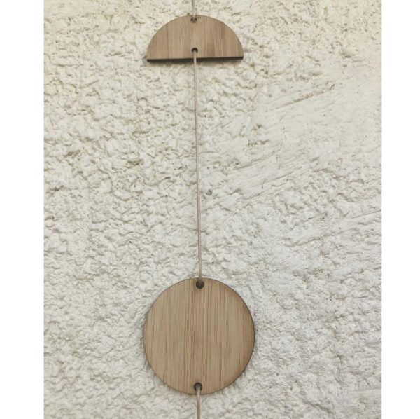 Bamboo Luna Phase Wall Hanging